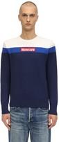 Moncler Crewneck Color Block Virgin Wool Sweater