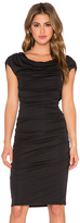 BCBGMAXAZRIA Kylia Drape Back Dress