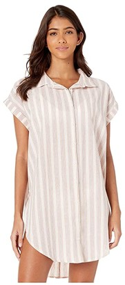 RVCA Sand Dollar Shirt Dress Cover-Up
