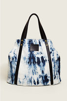 True Religion Oversized Tie Dye Denim Tote