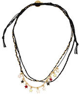 Venessa Arizaga Multistrand Star Charms Cord Necklace