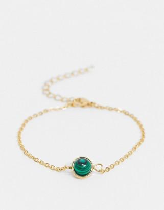 Aura by Calum Best malachite crystal bracelet