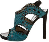 Proenza Schouler Python Ankle Strap Sandals