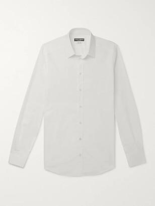 Dolce & Gabbana Slim-Fit Logo-Jacquard Cotton-Poplin Shirt - Men