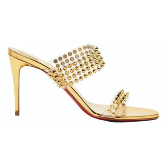 Christian Louboutin Gold Plastic Sandals