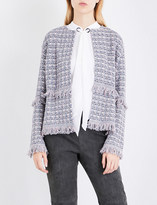 St. John Fringed tweed jacket