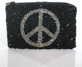 Moyna Black Sequin Trimmed Small Coin Purse