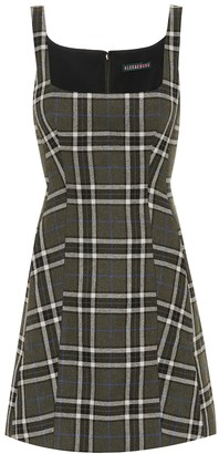 ALEXACHUNG Shrimpton checked minidress