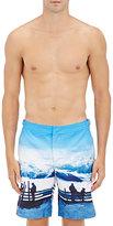 Orlebar Brown Men's Winter-Print Dane II Swim Trunks-LIGHT BLUE