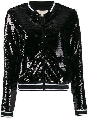 MICHAEL Michael Kors sequinned bomber jacket