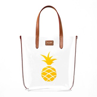 Jeff Wan Clear Tote With Pineapple Saddle