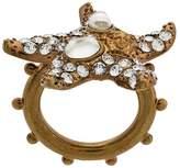 Versace embellished starfish ring