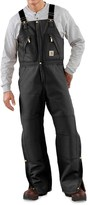 Carhartt Duck Zip-to-Thigh Bib Overalls - Factory Seconds (For Big and Tall Men)