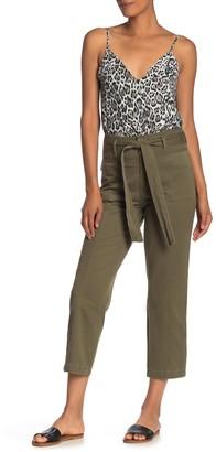 Blu Pepper High Waist Tie Front Crop Pants