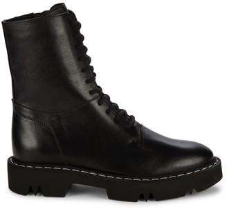 Aquatalia Hana Leather Combat Boots