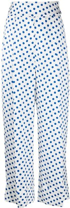 Sara Battaglia Polka Dot High Waisted Trousers