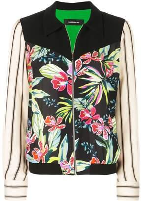 Barbara Bui floral panelled zip jacket