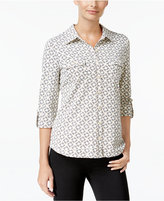 Charter Club Printed Utility Shirt, Only at Macy's