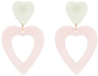 Valet Studio Georgette heart drop earrings