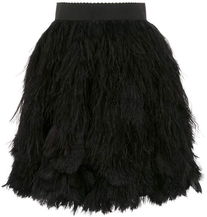 182e5672bc9b Black Feather Skirt - ShopStyle