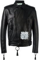 Off-White Carry Over jacket - men - Calf Leather/Viscose - M