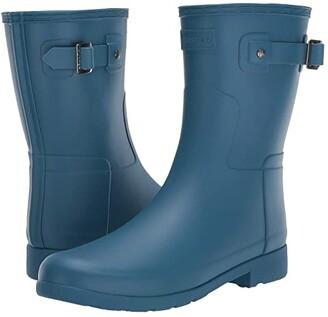Hunter Refined Short Rain Boots (Rock Pool) Women's Boots