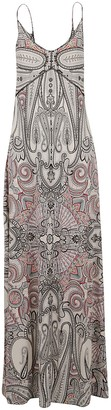 Etro Paisley Print Sleeveless Long Dress