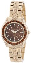 Swarovski Armitron Women's 75/5053BMGP Crystal Topaz Color Accented Gold-Tone Bracelet Watch