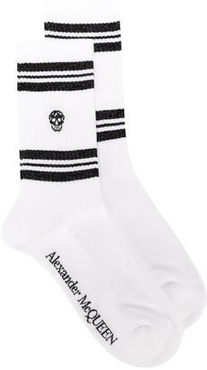 Alexander McQueen Skull Sports Socks