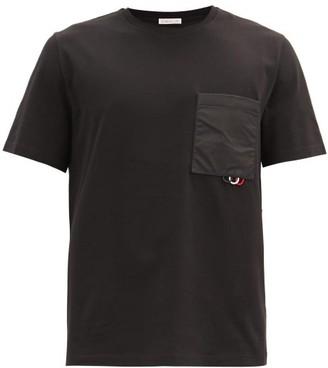 Moncler Patch-pocket Cotton-jersey T-shirt - Black