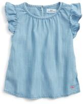 Vineyard Vines Toddler Girl's Chambray Top