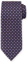 Ermenegildo Zegna Flower & Medallion-Print Silk Tie