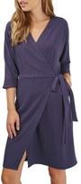 Topshop Dolman Sleeve Wrap Midi Dress