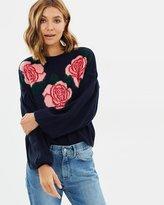 Miss Selfridge Floral Intarsia Jumper