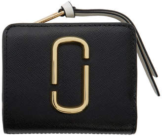 Marc Jacobs Black and Grey Mini Snapshot Compact Wallet