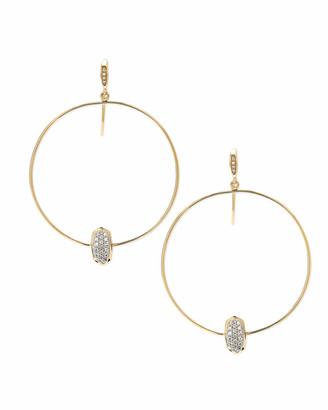 Kendra Scott Elora Hoop Earrings in White Diamond
