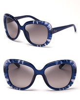 Christian Dior Oversized Tie Dye Print Sunglasses
