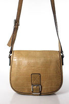 MICHAEL Michael Kors Tan Brown Embossed Leather Small Crossbody Handbag