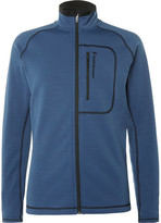 Peak Performance Fleece-Back Stretch-Jersey Mid-Layer Ski Jacket