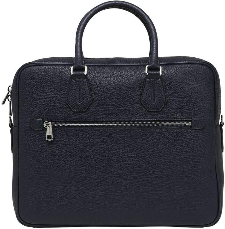 Bally Pebbled Leather Briefcase