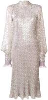 Talbot Runhof sequinned high neck midi dress