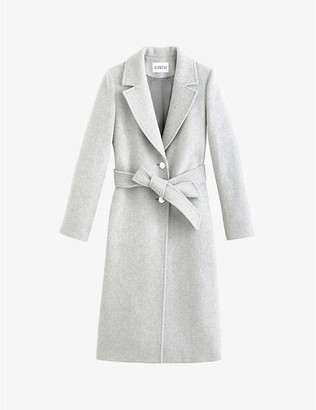 Claudie Pierlot Generalter single-breasted wool-blend coat