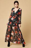 Reverse Isadora Floral Print Maxi Wrap Dress