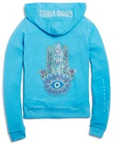 Butter Shoes Girls' Rhinestud Hamsa Hoodie - Sizes S-XL