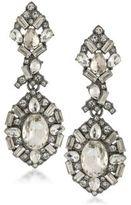 ABS by Allen Schwartz Black Magic Crystal Chandelier Earrings