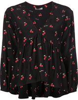 Piamita cherry print blouse