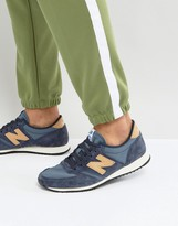 New Balance 420 Suede Trainers In Blue U420pnt
