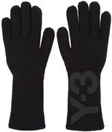 Y-3 Black Logo Gloves