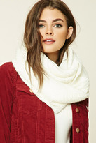Forever 21 FOREVER 21+ Raspberry Knit Infinity Scarf
