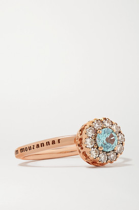 Selim Mouzannar Beirut Basic 18-karat Rose Gold, Paraiba And Diamond Ring